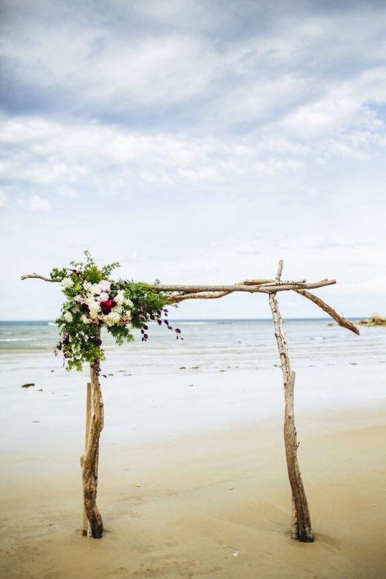 arbour on the beach