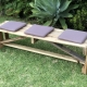 Pallet bench with three cushions