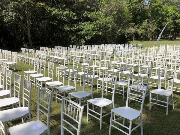 hundreds of tiffani chairs