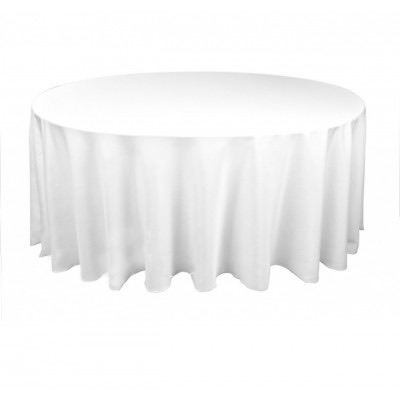 Round White Tablecloth