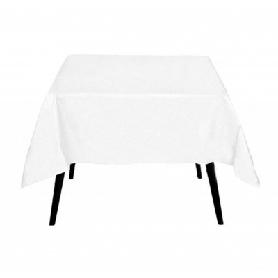 white table cloth on table