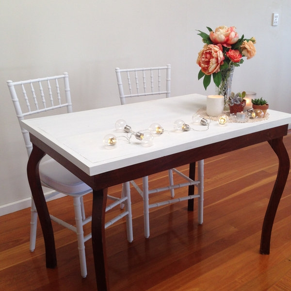 Vintage table and two chairs