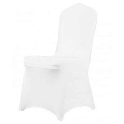 White lycra chair cover